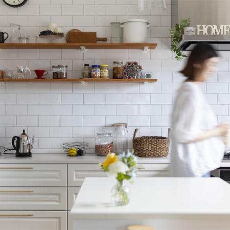 輸入住宅のキッチン