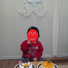 下の娘の3才の誕生日!