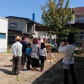 札幌市東区新築 『 地鎮祭 』ガレージ住宅