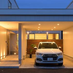 札幌市白石区にあるモデルハウスのカーポート