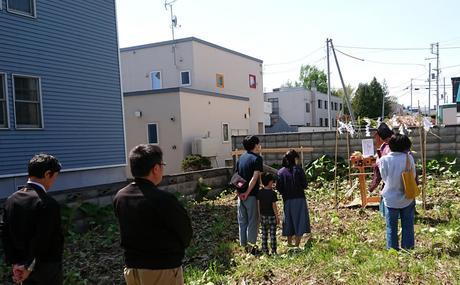 札幌市豊平区にてご新築『 地鎮祭 』(^○^)