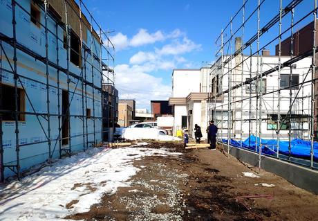 札幌市白石区ご新築(建物配置の立ち合い)