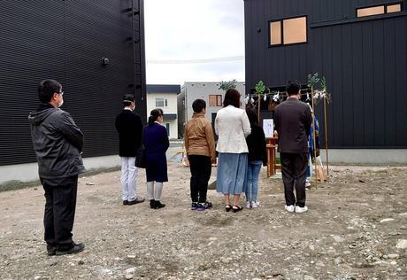 札幌市東区「 ご新築 」地鎮祭。
