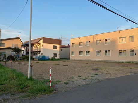 江別市野幌町の新しい土地です